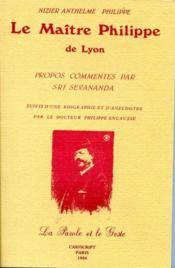 Le maître Philippe de Lyon - Couverture - Format classique