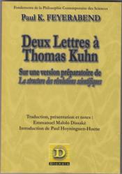 Deux lettres à Thomas Kuhn ; sur une version préparatoire de La structure des révolutions scientifiques - Couverture - Format classique