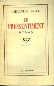 Le Pressentiment. - Couverture - Format classique