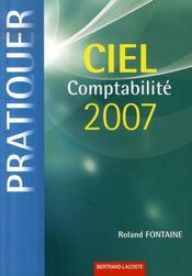 Ciel comptabilité 2007 ; livre de l'élève - Intérieur - Format classique