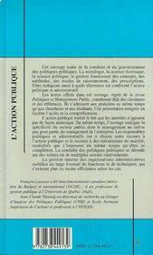 Action Publique (L') - 4ème de couverture - Format classique