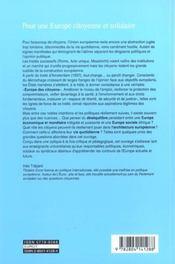 Pour une europe citoyenne et solidaire ; l'europe des traites dans la vie quotidienne - 4ème de couverture - Format classique
