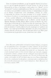 L'Humanisme Ou La Grande Esperance - 4ème de couverture - Format classique