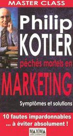 Master class ; pêchés mortels en marketing ; symptômes et solutions - Intérieur - Format classique