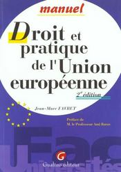 Vente  Dt  pratique union europeenne  - Jean-Marc Favret