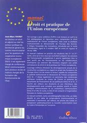 Dt Pratique Union Europeenne - 4ème de couverture - Format classique