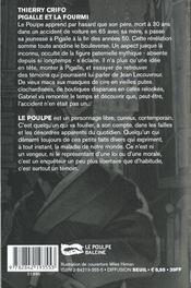 Pigalle et la fourmi - 4ème de couverture - Format classique