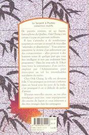 Nouvelles orientales et désorientées - 4ème de couverture - Format classique