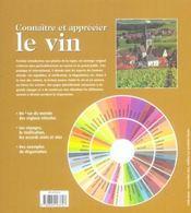 Connaître et apprécier le vin - 4ème de couverture - Format classique