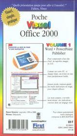 Poche Visuel Office 2000 - 4ème de couverture - Format classique