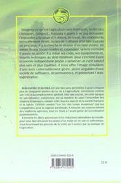 Agriculture Naturelle (L') - 4ème de couverture - Format classique