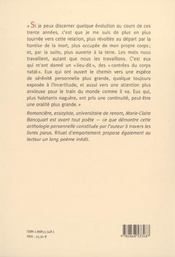Rituel d'emportement ; poèmes 1969-2001 - 4ème de couverture - Format classique