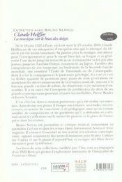 Claude Helffer ; Entretien Avec Bruno Serrou - 4ème de couverture - Format classique