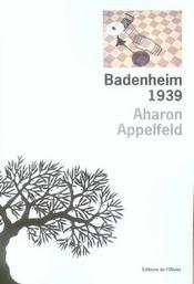 Badenheim 1939 - Intérieur - Format classique