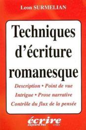 Techniques d'ecriture romanesque - Couverture - Format classique