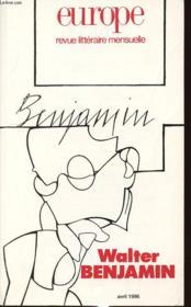 Europe Walter Benjamin No 804 - Couverture - Format classique