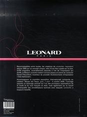 Léonard ; impressions de mode - 4ème de couverture - Format classique