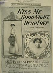 Kiss Me Good Night, Dear Love - Piano. - Couverture - Format classique