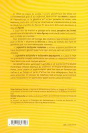 Du Dessin Percu A La Figure Construite Methodes Recentes Pour Enseigner La Geometrie Au College - 4ème de couverture - Format classique