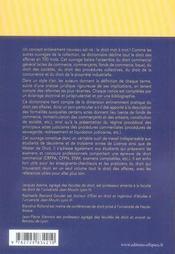 Dictionnaire de droit des affaires - 4ème de couverture - Format classique