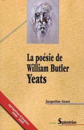 La Poesie De William Butler Yeats - Intérieur - Format classique
