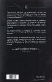 Pluie de flammes - 4ème de couverture - Format classique