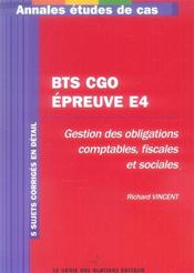 BTS CGO ; épreuve E4 - Intérieur - Format classique