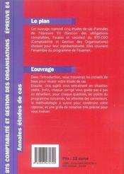 BTS CGO ; épreuve E4 - 4ème de couverture - Format classique