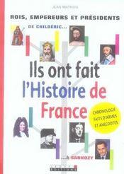 Ils ont fait l'histoire de france - Intérieur - Format classique