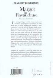 Margot La Ravaudeuse - 4ème de couverture - Format classique