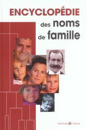 Encyclopédie des noms de famille - Intérieur - Format classique