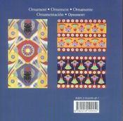 Ornement egyptien - 4ème de couverture - Format classique