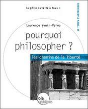 Pourquoi philosopher ? - Intérieur - Format classique
