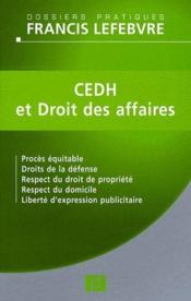Vente  Affaires Et Cedh  - Redaction Efl