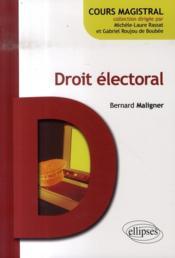 Droit électoral - Couverture - Format classique