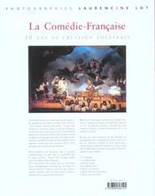 La Comedie Francaise ; 30 Ans De Creation Theatrale - 4ème de couverture - Format classique