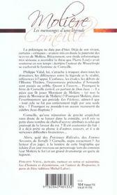Moliere Corneille ; Les Mensonges D'Une Legende - 4ème de couverture - Format classique