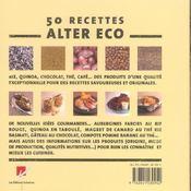 Alter eco, le livre de cuisine ; cuisiner équilibré avec les produits du commerce équitable - 4ème de couverture - Format classique