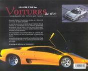 Voitures De Reve (Des) - 4ème de couverture - Format classique
