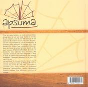 Apsuma - 4ème de couverture - Format classique