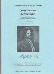 Oeuvre concernant la physique - Intérieur - Format classique