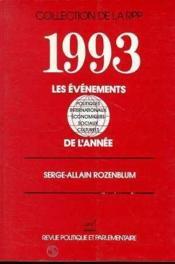Les 1993 evenements de l'annee - Couverture - Format classique