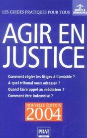 Agir En Justice - Intérieur - Format classique