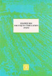 Examen des politiques cerealieres 1992-1993 - Couverture - Format classique