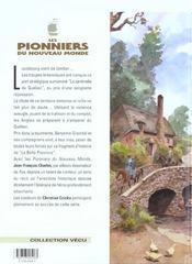 Les pionniers du nouveau monde t.4 ; la croix de saint-louis - 4ème de couverture - Format classique