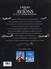 L'atlas des avions de la seconde guerre mondiale - 4ème de couverture - Format classique
