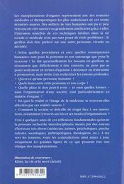 Ethique Et Transplantation D'Organes - 4ème de couverture - Format classique