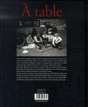 À table - 4ème de couverture - Format classique