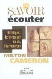 Savoir Ecouter - Intérieur - Format classique