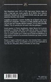 Disparues De L'Yonne ; La Contre-Enquete - 4ème de couverture - Format classique